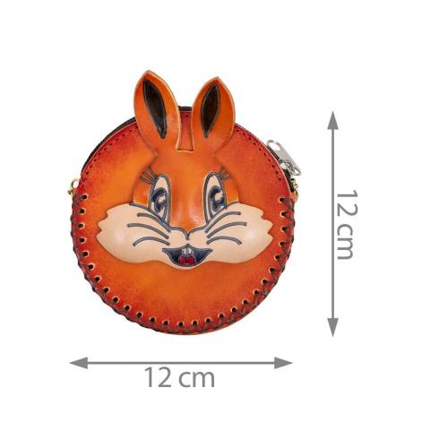 Port-monede piele maro PM112