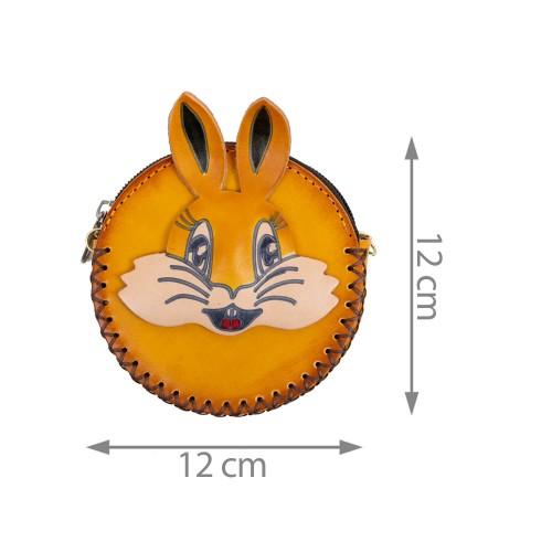 Port-monede piele galben mustar PM114