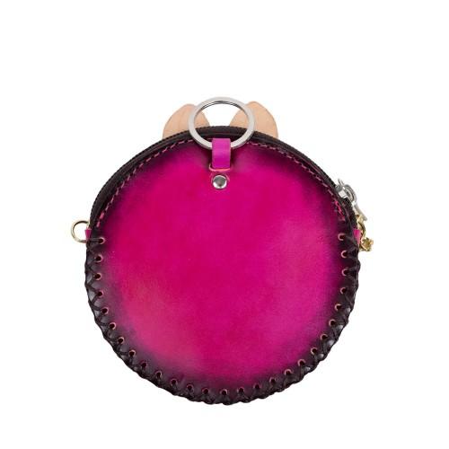 Port-monede piele roz inchis PM116