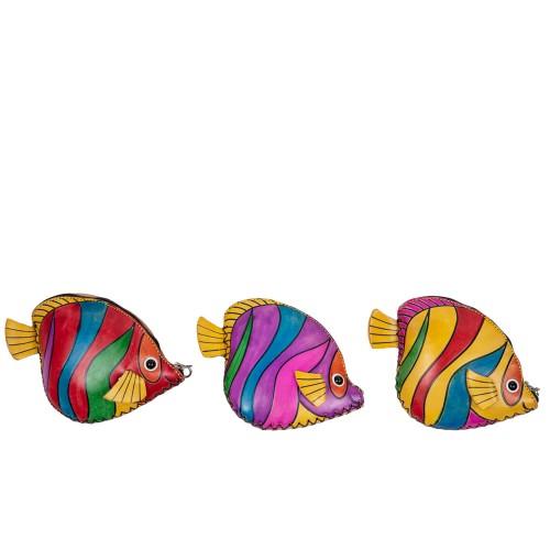 Port-monede pesti piele multicolora PM123