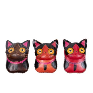 Port-monede pisica piele multicolora PM125