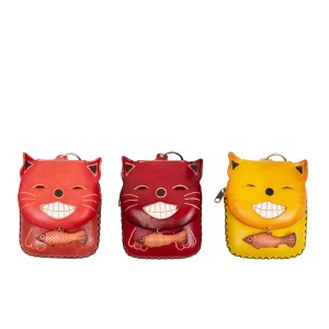 Port-monede pisica piele multicolora PM128