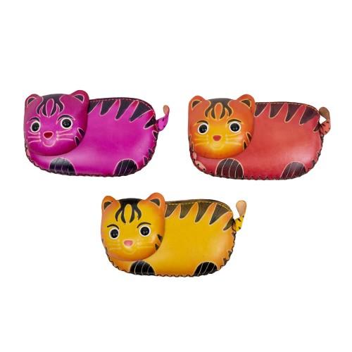 Port-monede pisica piele multicolora PM131