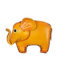 Port-monede piele elefant galben mustar PM133