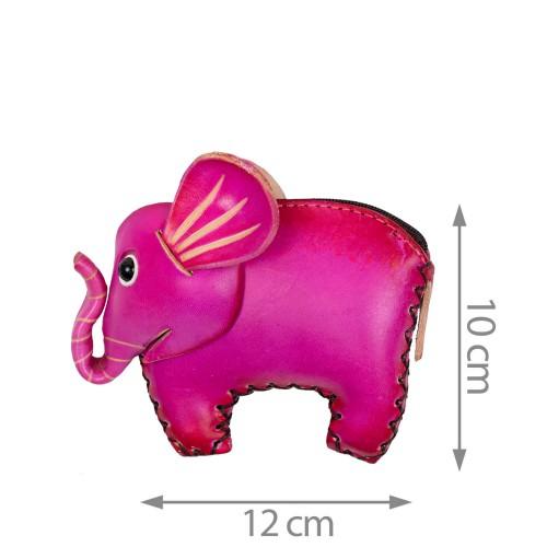 Port-monede piele elefant roz PM134