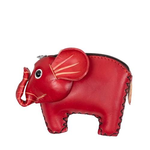 Port-monede piele elefant rosu PM135