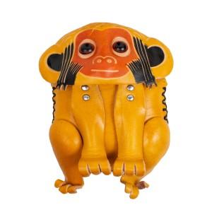 Port-monede  piele Monkey galben mustar PM136