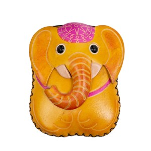 Port-monede piele elefant galben PM138