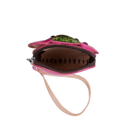 Port-monede piele elefant roz PM139