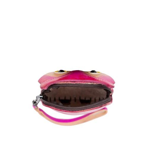 Port-monede piele Bufnita roz PM145