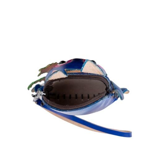 Port-monede piele albastra iepuras PM152