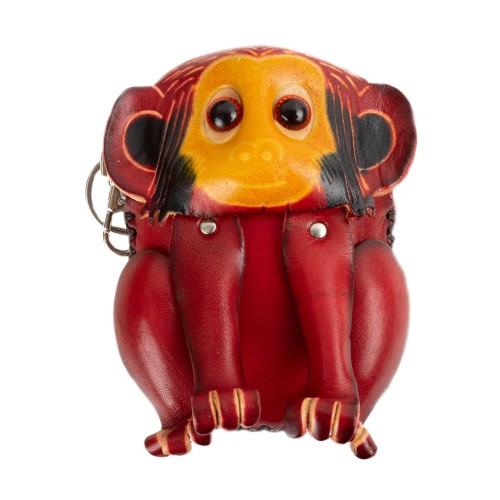 Port-monede piele Monkey grena PM038