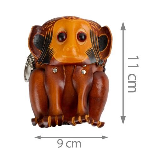 Port-monede piele Monkey maro PM039