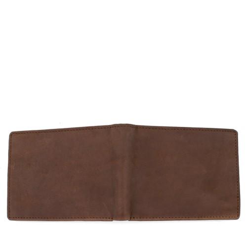Portofel din piele nabuc maro PT007