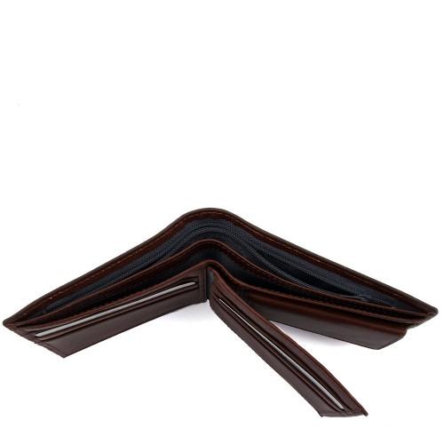Portofel din piele naturala maro PT011 Portofele Barbati