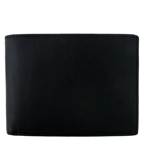 Portofel din piele naturala neagra PT013 Portofele Barbati