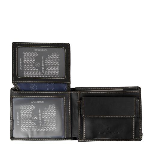 Portofel barbatesc negru/gri inchis PT038