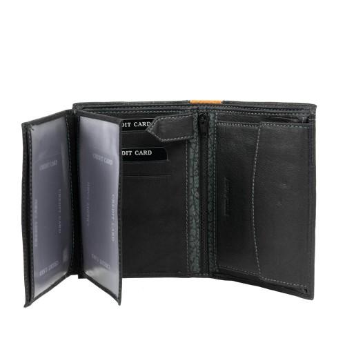 Portofel din piele neagra PT050
