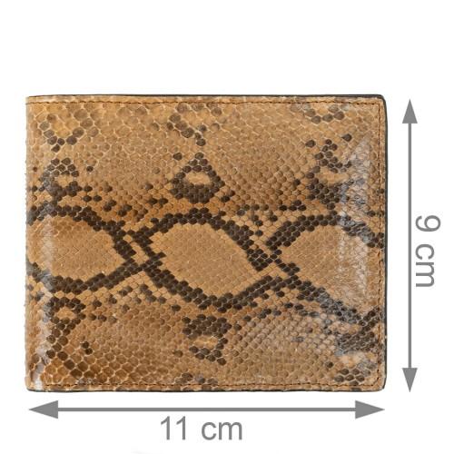 Portofel unisex piele piton maro deschis /maro PT077