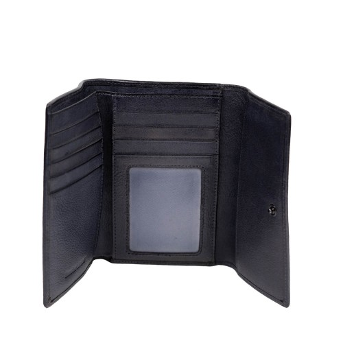 Portofel din piele naturala negru PT085