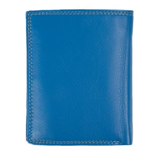 Portofel din piele naturala bleu PT041