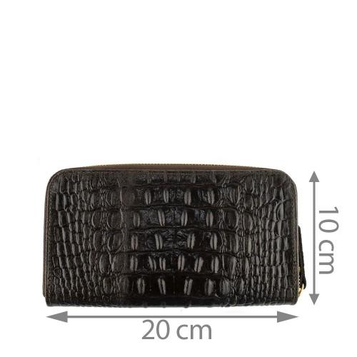 Portofel din piele naturala maro inchis Model PTF003