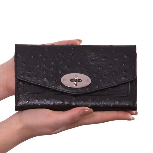Portofel din piele naturala negru Model PTF008 Portofele Femei