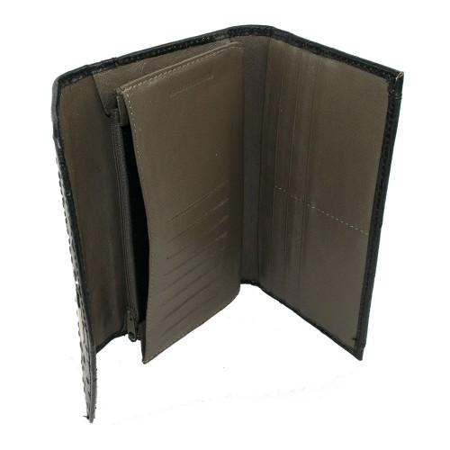 Portofel din piele naturala negru Model PTF008