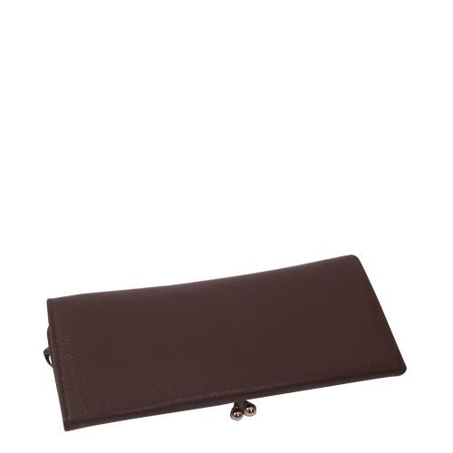 Portofel din piele naturala maro Model PTF009