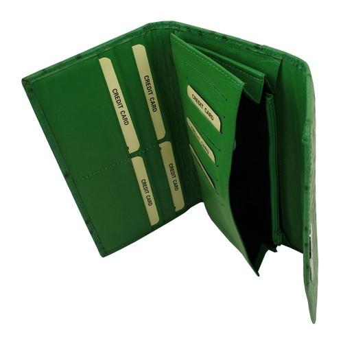 Portofel din piele naturala verde Model PTF011 Portofele Femei