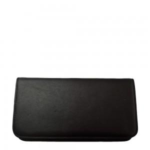 Portofel din piele naturala negru cu maro PTF018 Portofele Femei