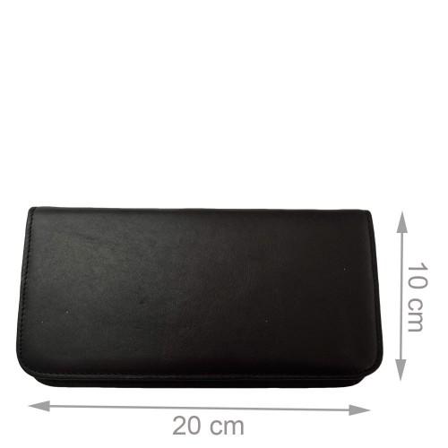 Portofel din piele naturala negru cu maro PTF018