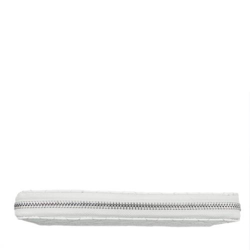 Portofel din piele naturala alb/unt PTF024