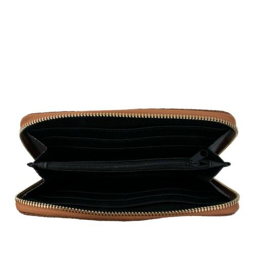 Portofel din piele naturala maro PTF033