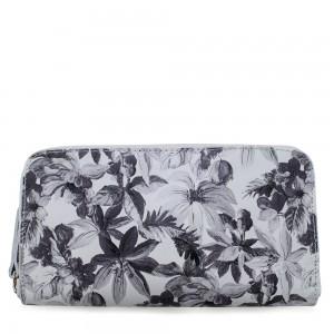 Portofel din piele naturala cu imprimeu floral PTF034 Portofele Femei