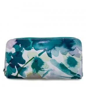 Portofel din piele naturala cu imprimeu floral PTF037 Portofele Femei