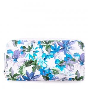 Portofel din piele naturala cu imprimeu floral PTF038 Portofele Femei