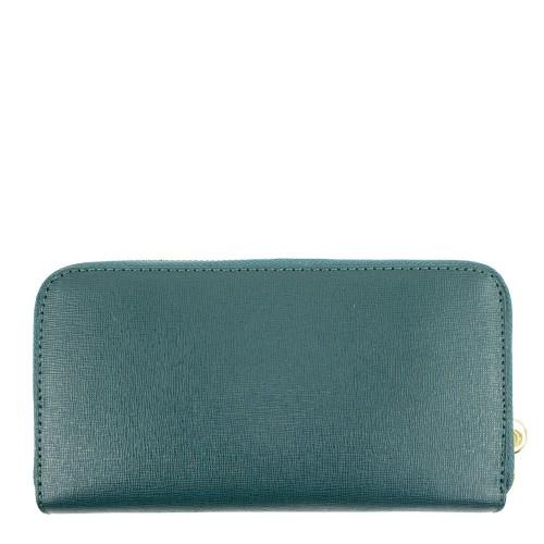 Portofel din piele naturala verde PTF050