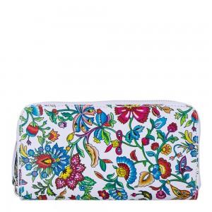 Portofel din piele naturala cu imprimeu floral PTF055- Portofele Femei