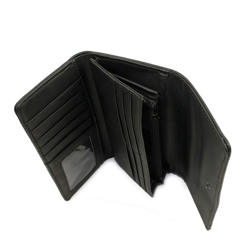 Portofel din piele naturala negru PTF061