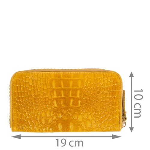 Portofel piele naturala maro camelPTF062