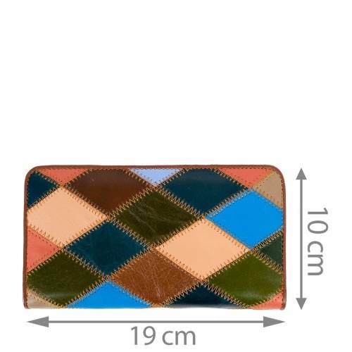 Portofel piele naturala multicolor PTF153