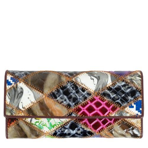 Portofel piele lacuita multicolor PTF158
