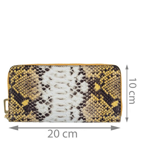 Portofel galben imprimeu sarpe PTF179