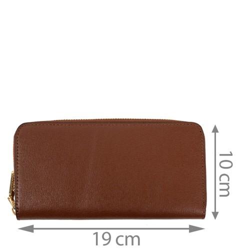 Portofel din piele naturala maro ciocolatiu PTF183