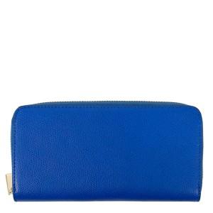 Portofel din piele naturala albastra PTF185