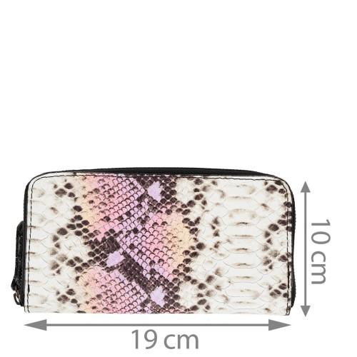 Portofel imprimeu sarpe roz PTF188