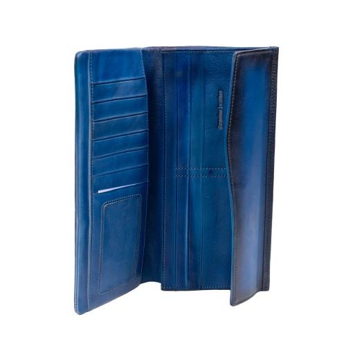 Portofel din piele bleumarin PTF213