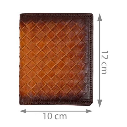 Portofel piele naturala maro unisex PTF218