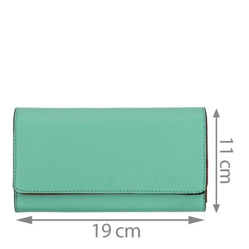 Portofel piele verde turcoaz PTF224